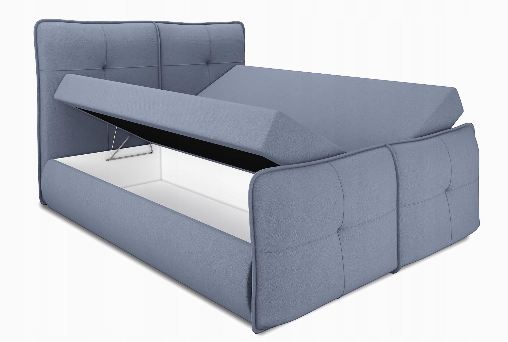 łóżko Kontynentalne PAX 180x200 młodzieżowe stelaż Typ łóżka materac w komplecie z zagłówkiem ze stelażem pojemnik na pościel otwierany do góry nie dotyczy