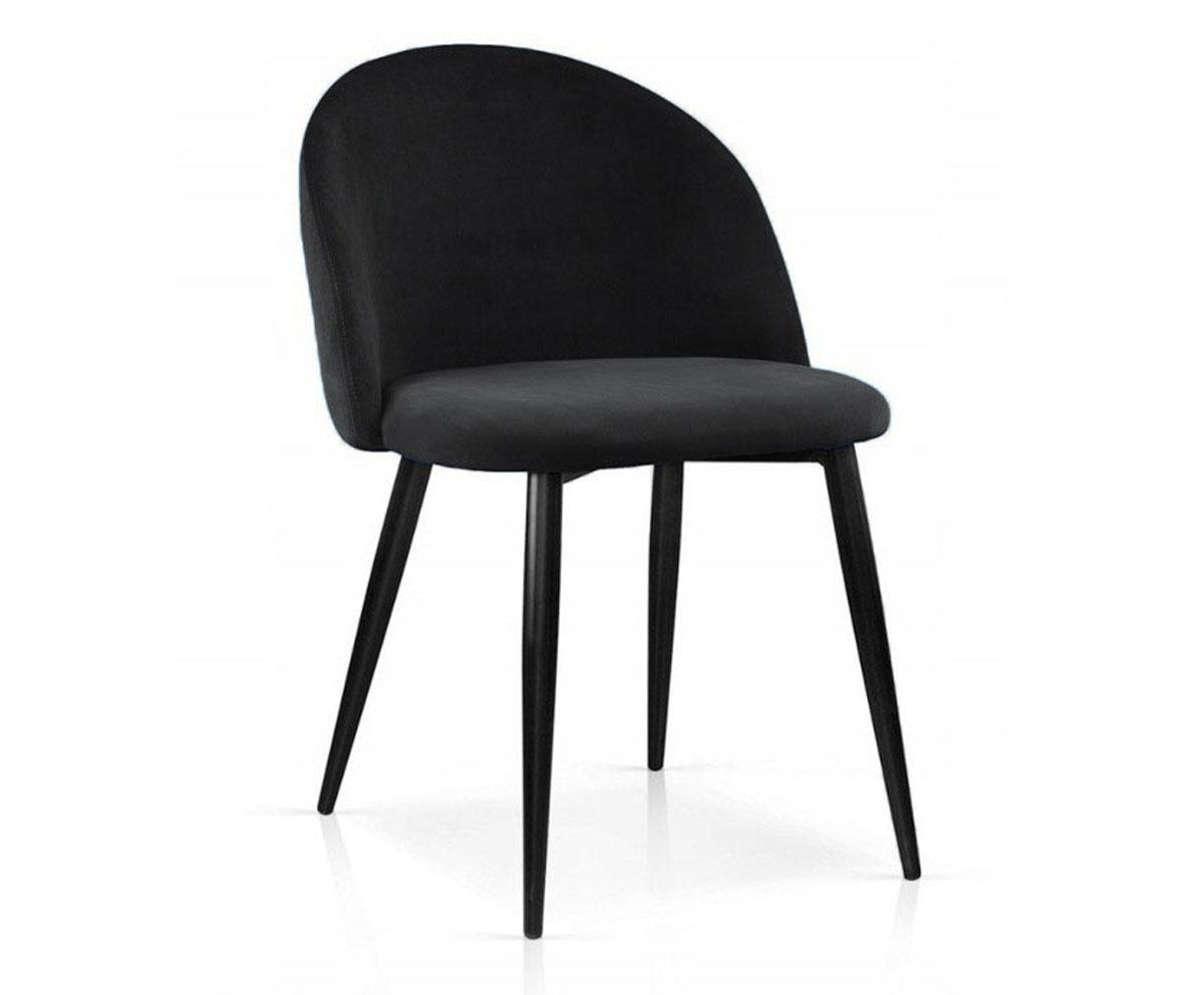 Czarne tapicerowane krzesło do jadalni KALIPSO 19