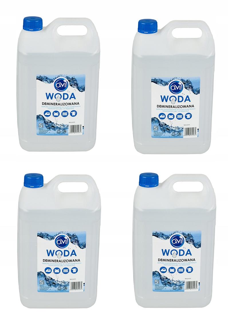 Деминерализованная вода AVI PRODUCT POLISH 20L 4x5L