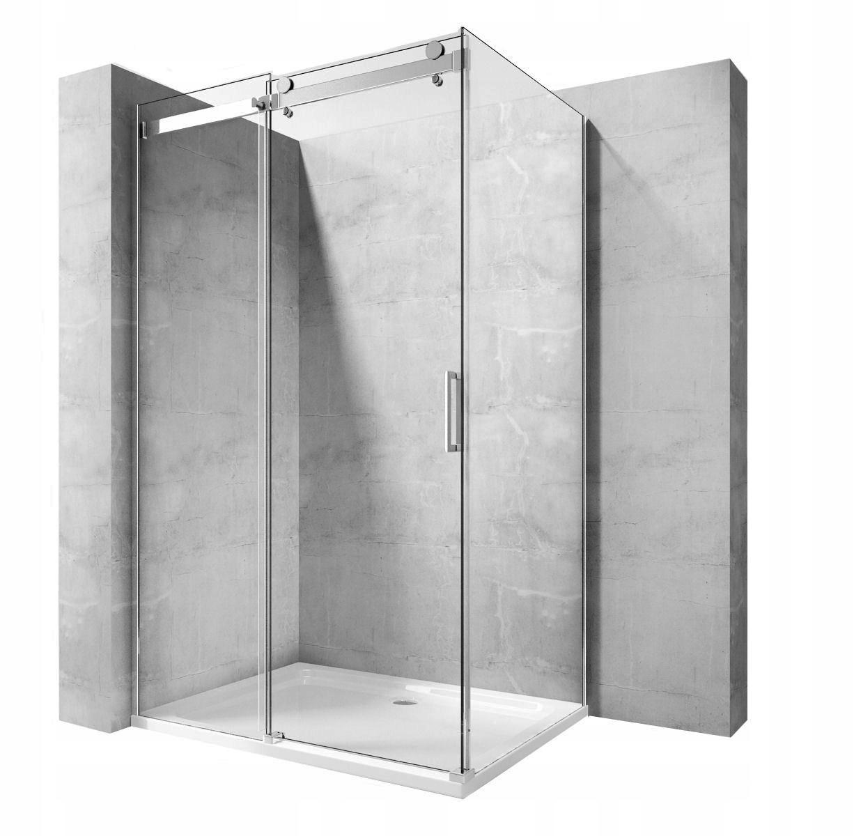 POSUVNÉ sprchové 140x100 cm, SKLO 8 MM