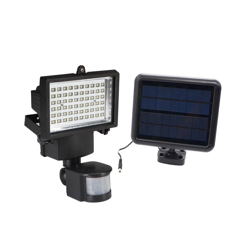 Solárna lampa s snímača pohybu, 60 LED súmraku.