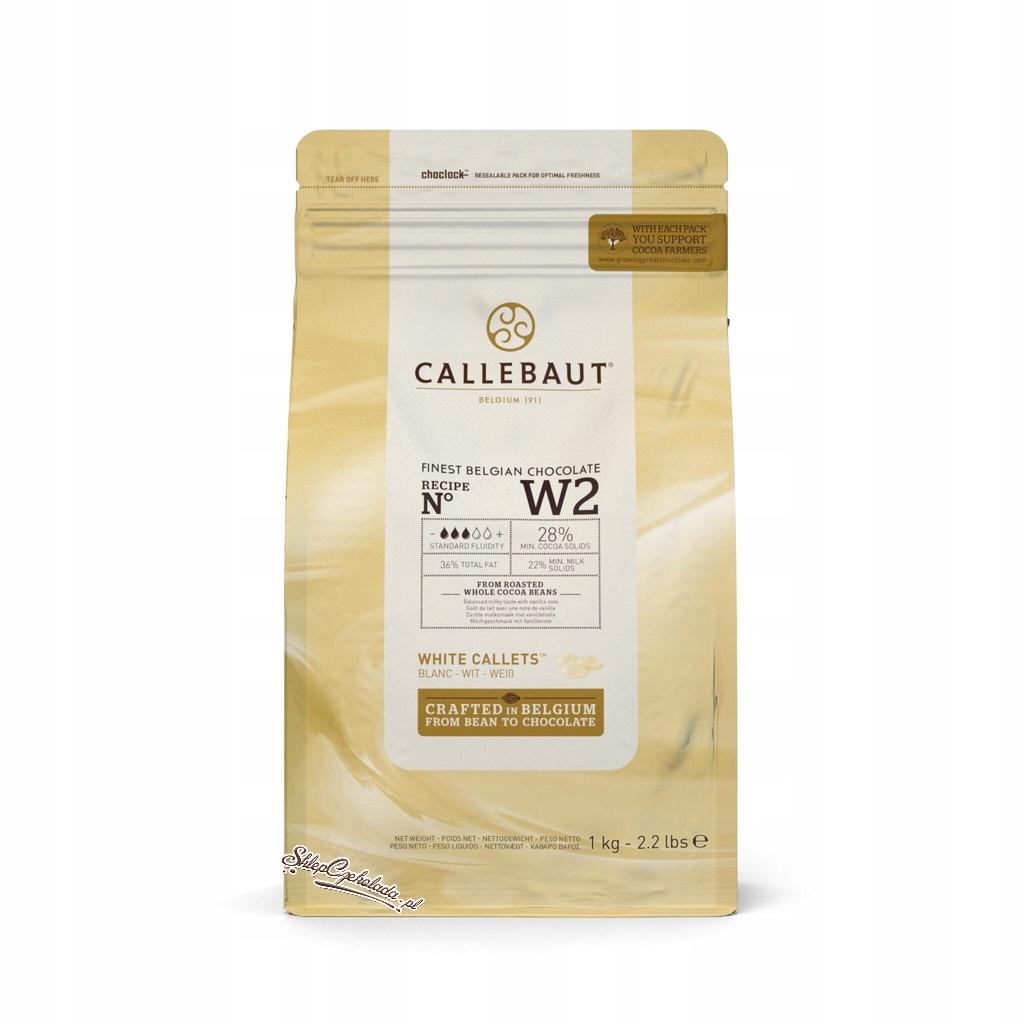 Biela Belgickej čokolády Callebaut CW2 1 kg