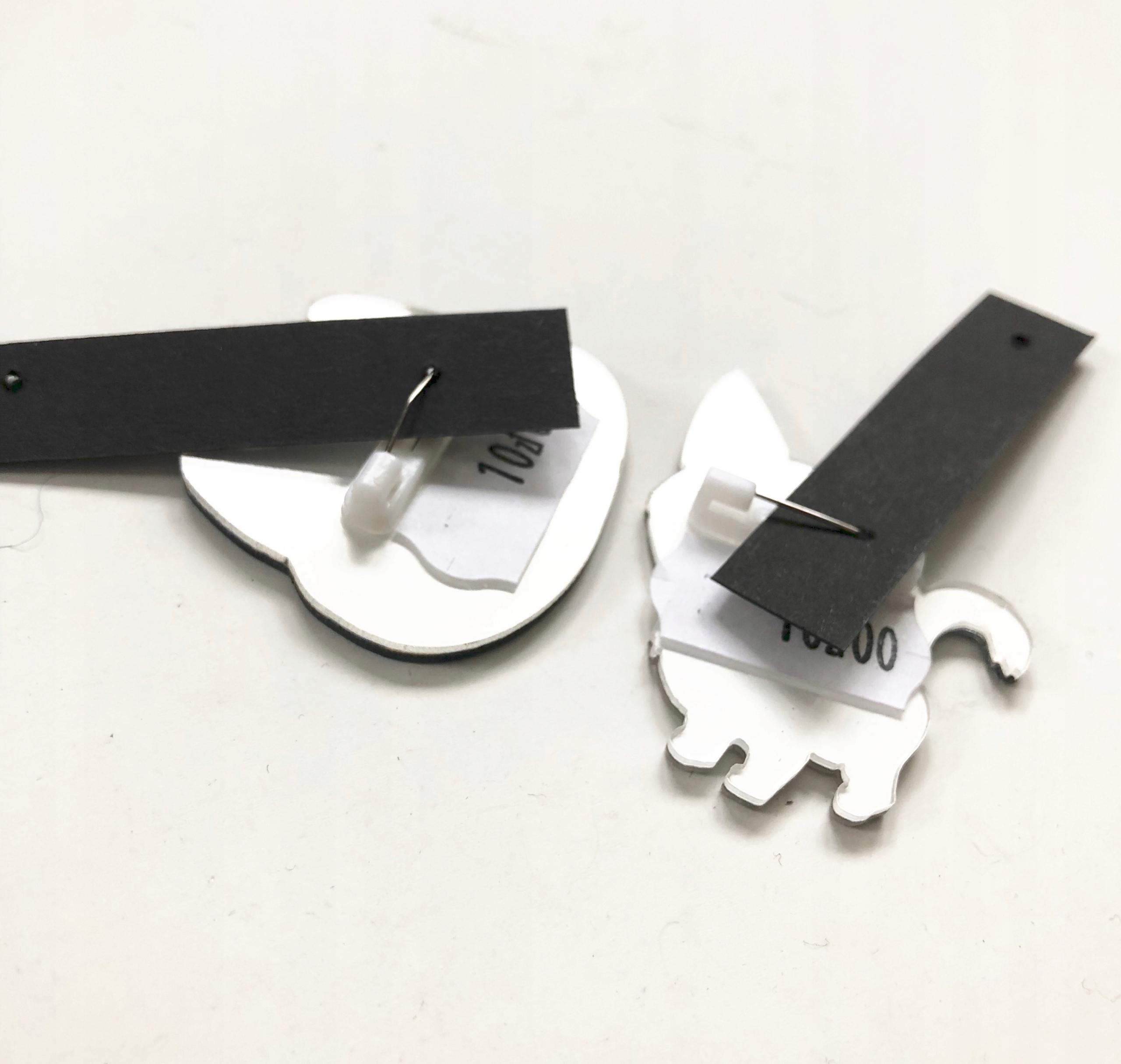 BROSZKA PRZYPINKA pin zestaw 2 szt KOTy duże oczy 9011391098 ISbILBL2