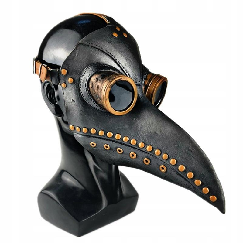 Maska doktora plagi Halloween lateksowa szara