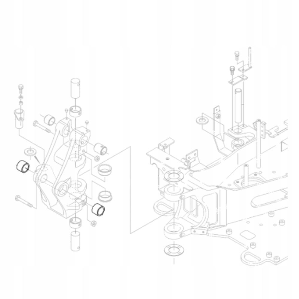 KUBOTA RG138-66463 Втулка задней бабки экскаватора KX018