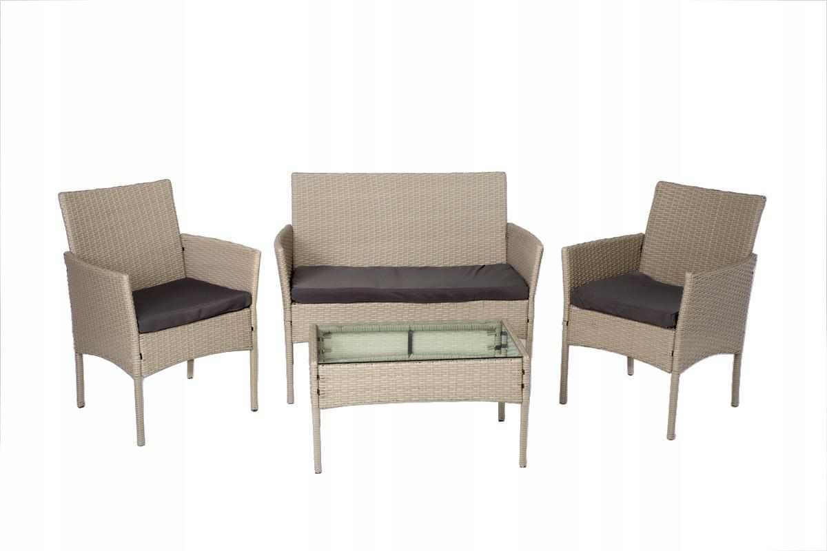 комплект дачной мебели диван 2 стулья и столик