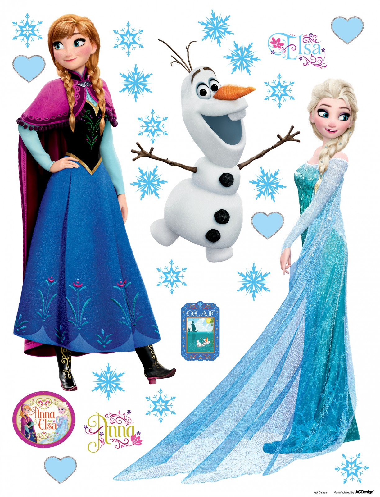 Frozen Stickers Nálepka Frozen Disney OLAF