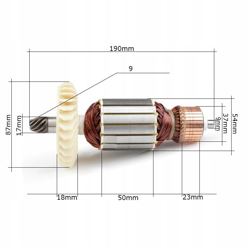 Rotor elektrické videl reťazca. WPGC111 Eurotec