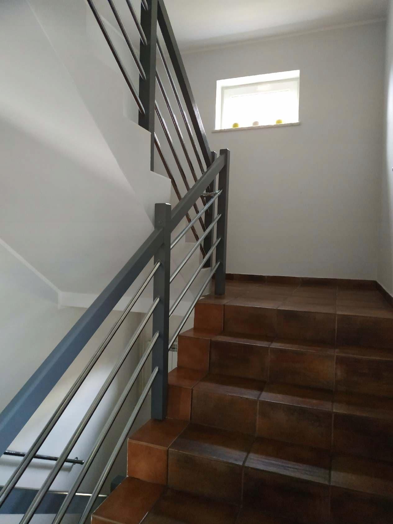 Kompletna Balustrada Schodowa Drewniana Porecz 8809715625 Allegro Pl