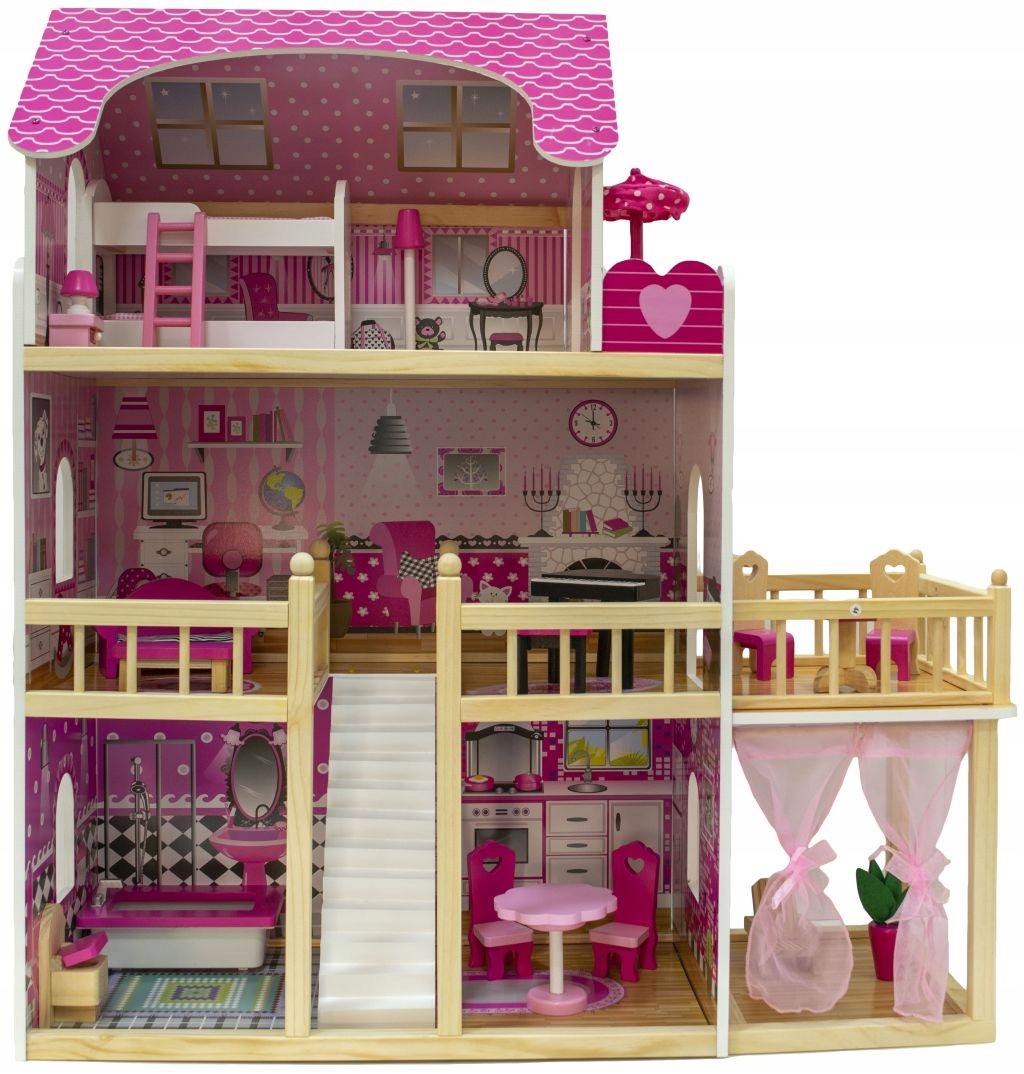 Drevený domček NADIA pre bábiky LOL + nábytok