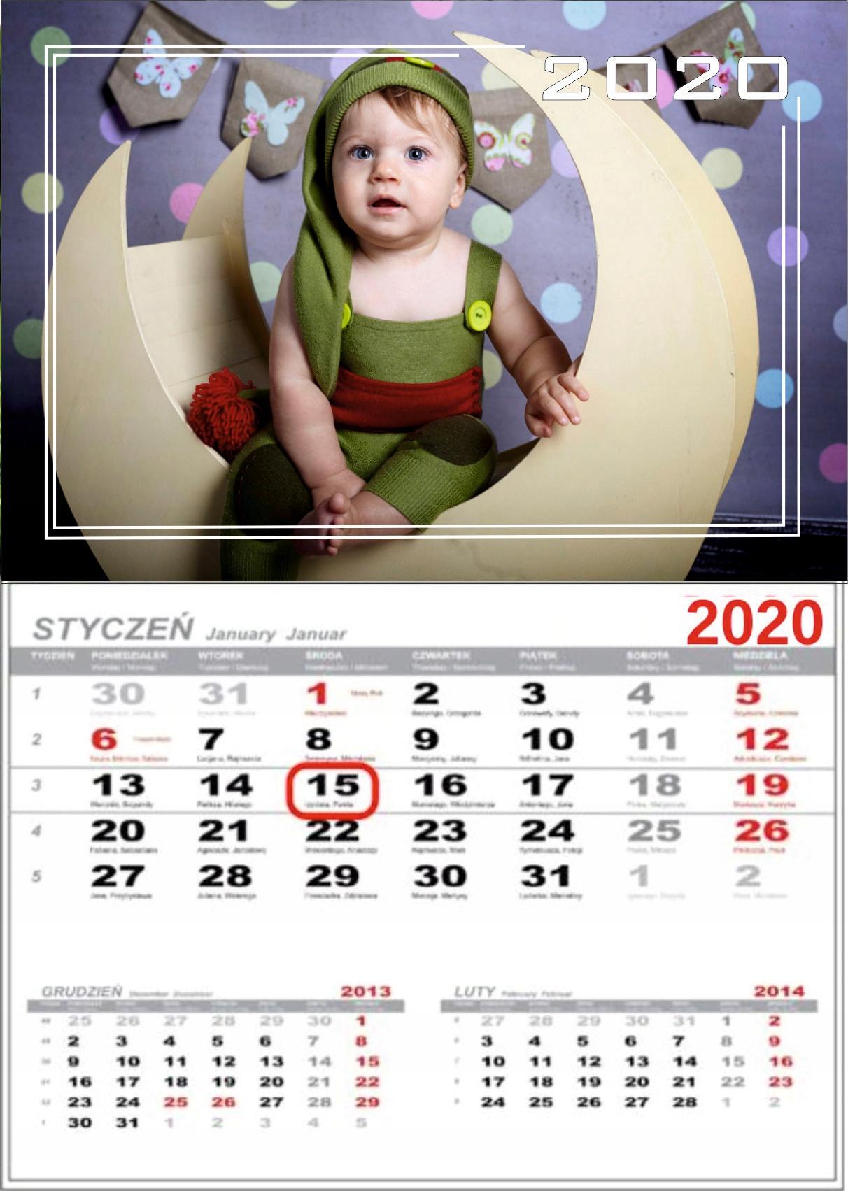 Jednodňový kalendár s vašou fotografiou pre darček