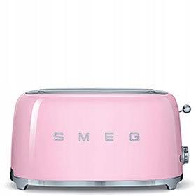 Hriankovač 4 plátok SMEG Pastelové ružové TSF02PKEU