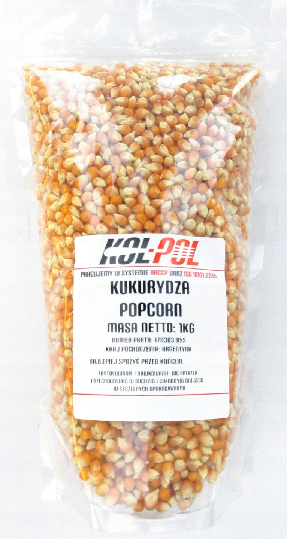 kukurydza popcorn ziarno 1kg 1000g bez soli