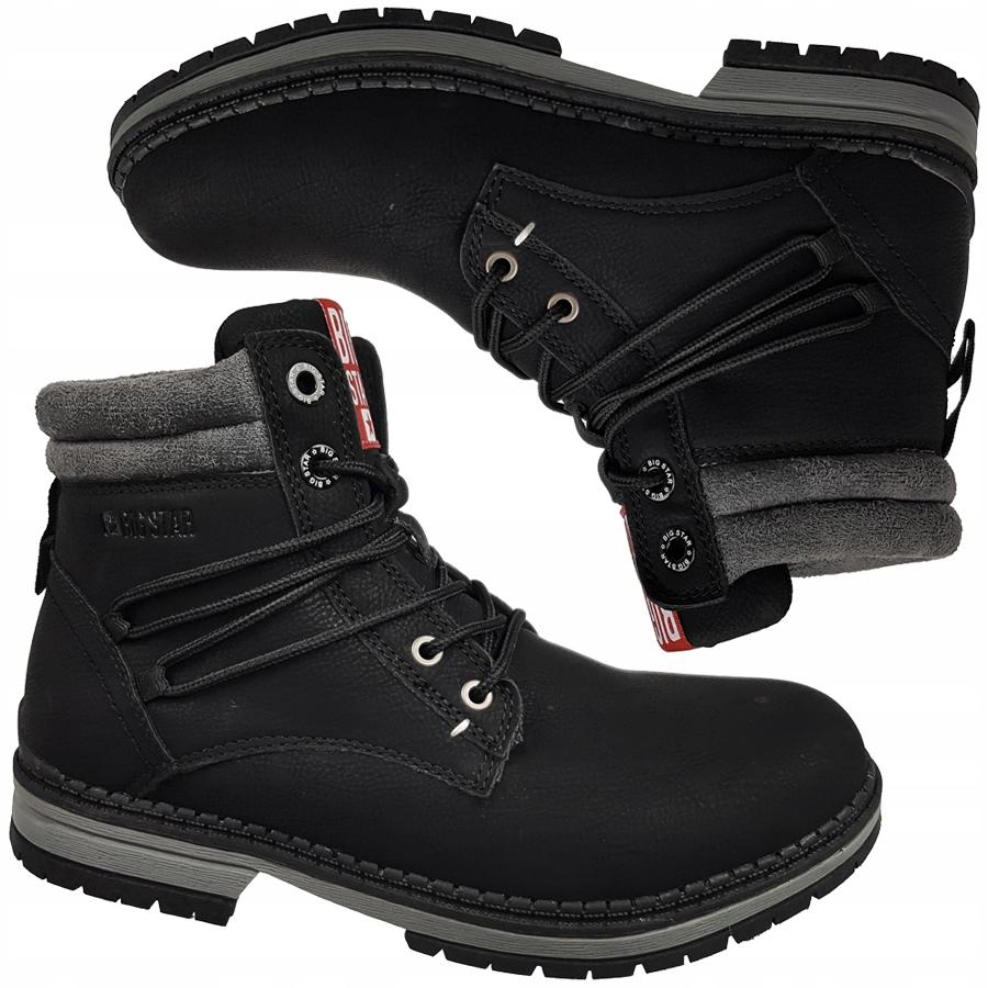 Buty trekkingowe Big Star botki czarne EE274696 39