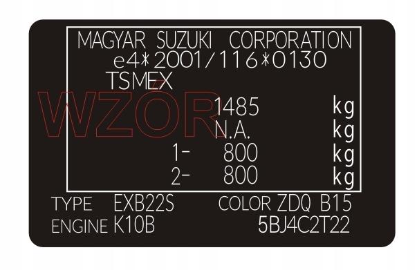 Фирменная табличка / наклейка Suzuki