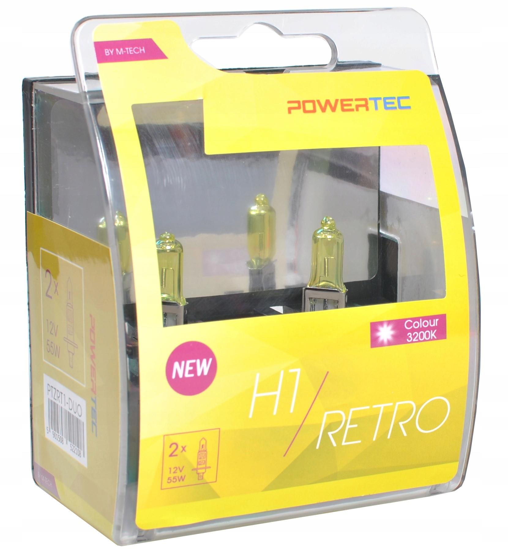 Lampa ZLATÁ Retro štýly H1 12V Powertec M-Tech