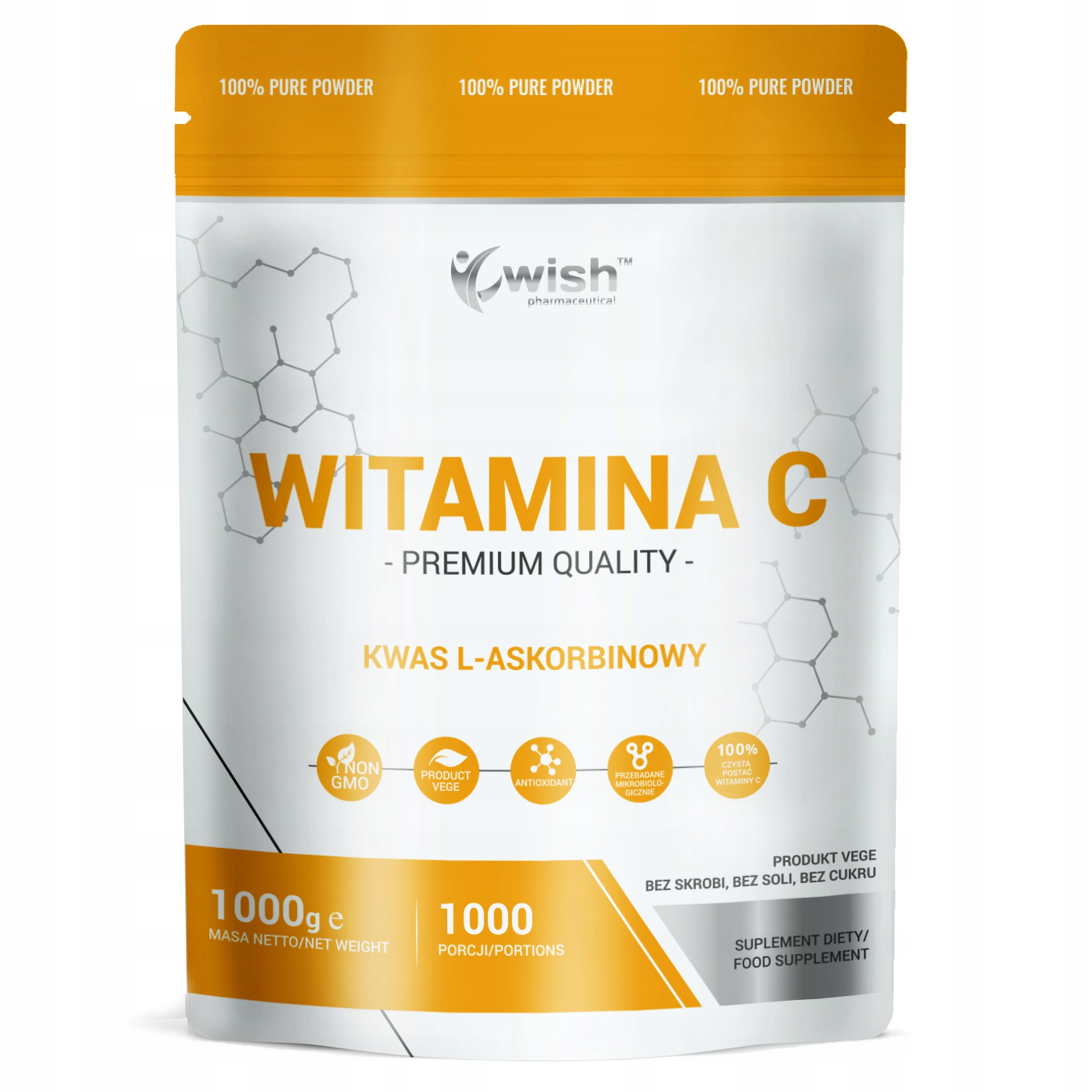 Item VITAMIN C POWDER is 100% L-ASCORBIC ACID 1kg