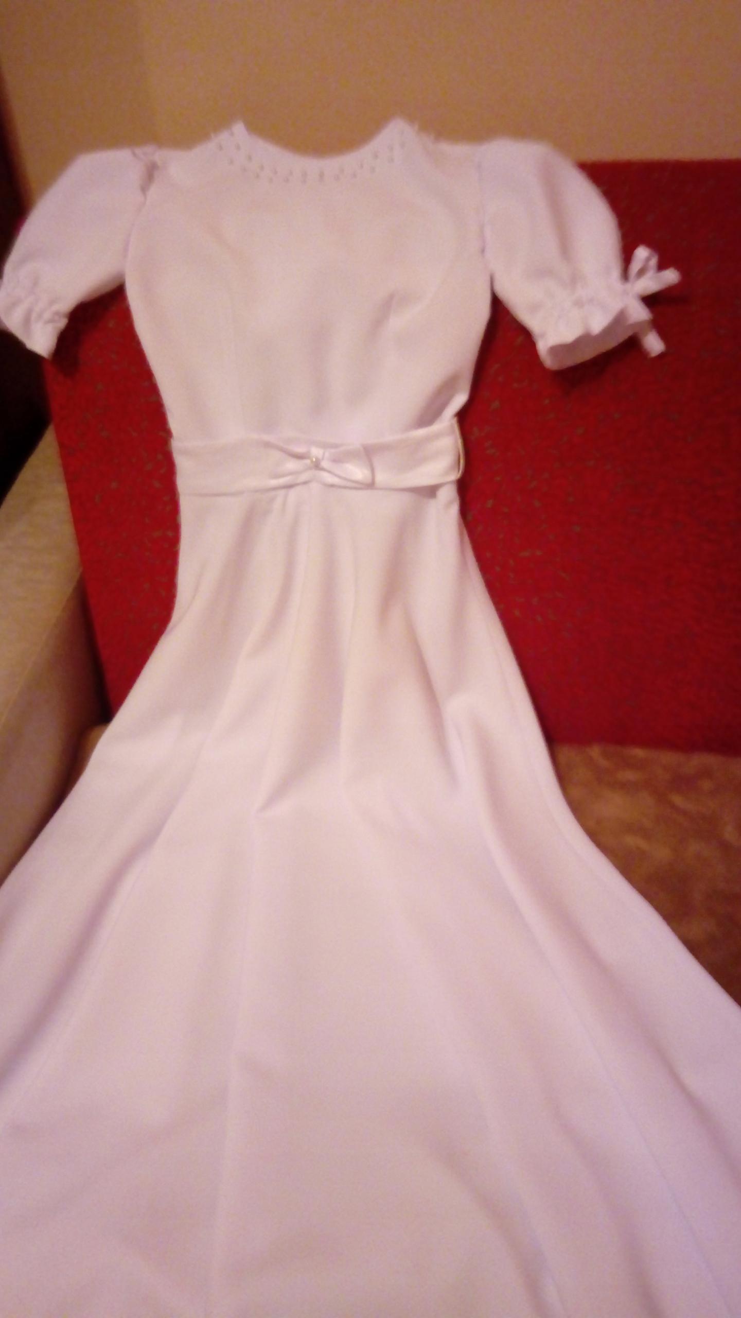 Šaty na sväté prijímanie + narzutka + kabelka