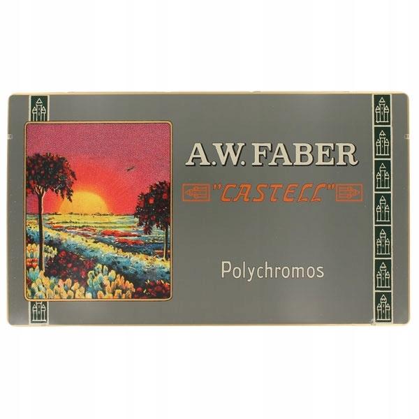Retro Polychromos farebné Ceruzky 12 farieb Faber-Castell