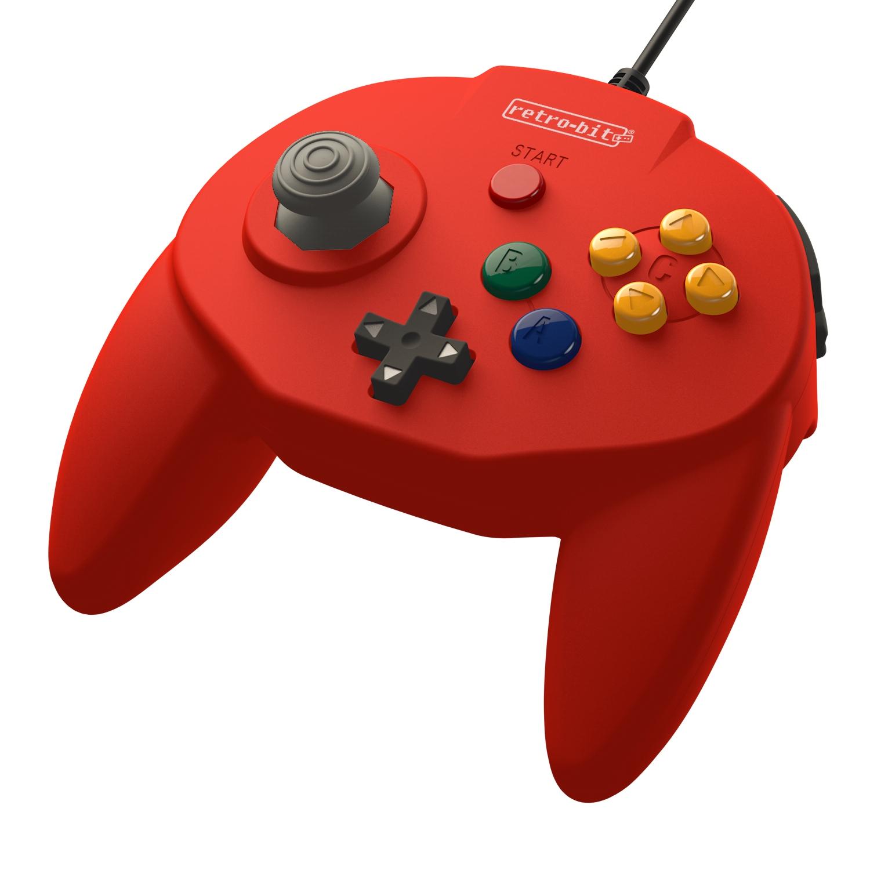 Retro-bit Tribute 64 Red Gamepad Premium FV23 24H