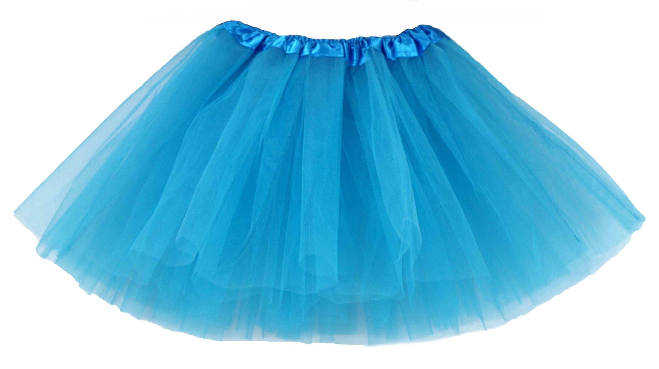 Item * SKIRT the TULLE SKIRT is TUTU-30 cm, turquoise