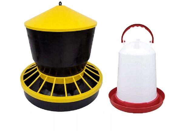 Пьющий 6L и feeder, кормушка 6кг для кур птицы