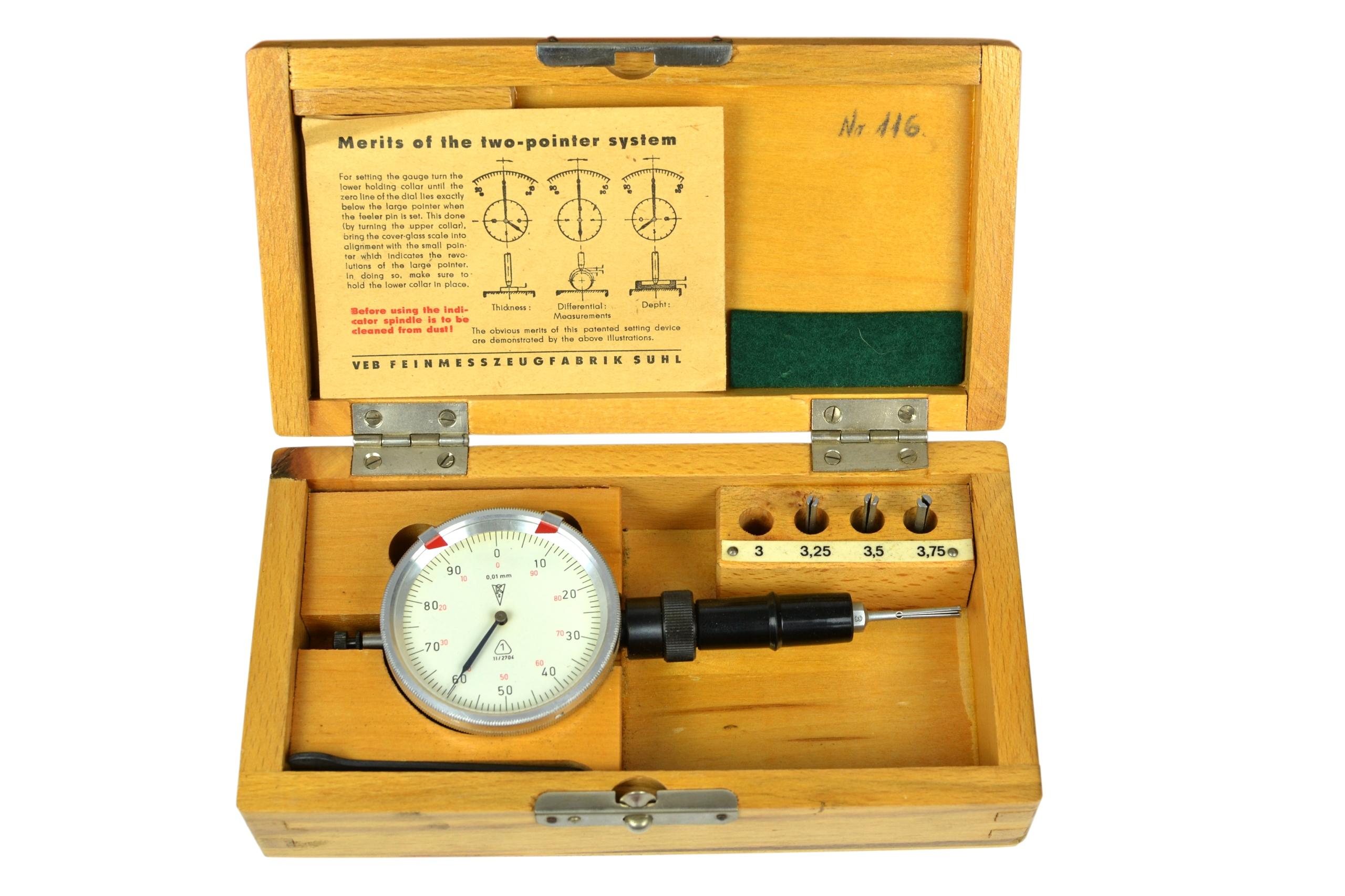 Średnicówka czujnikowa dwupunktowa 3-3,75 mm F/VAT