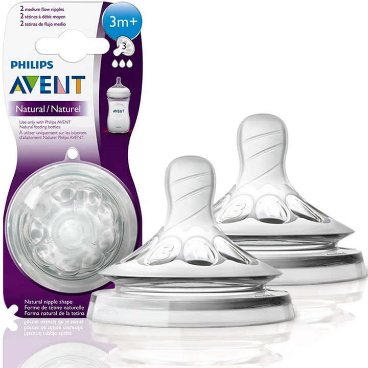 AVENT NATURAL BOTTLE NIPPLE ANTI-COLLECT 3M +