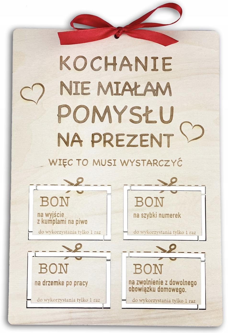 Prezent Na Mikolajki Swieta Zony Meza Bon Kupon 9904384412 Allegro Pl
