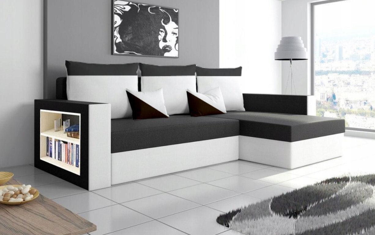 Раскладной угловой диван-кровать HUGO со спальной функцией