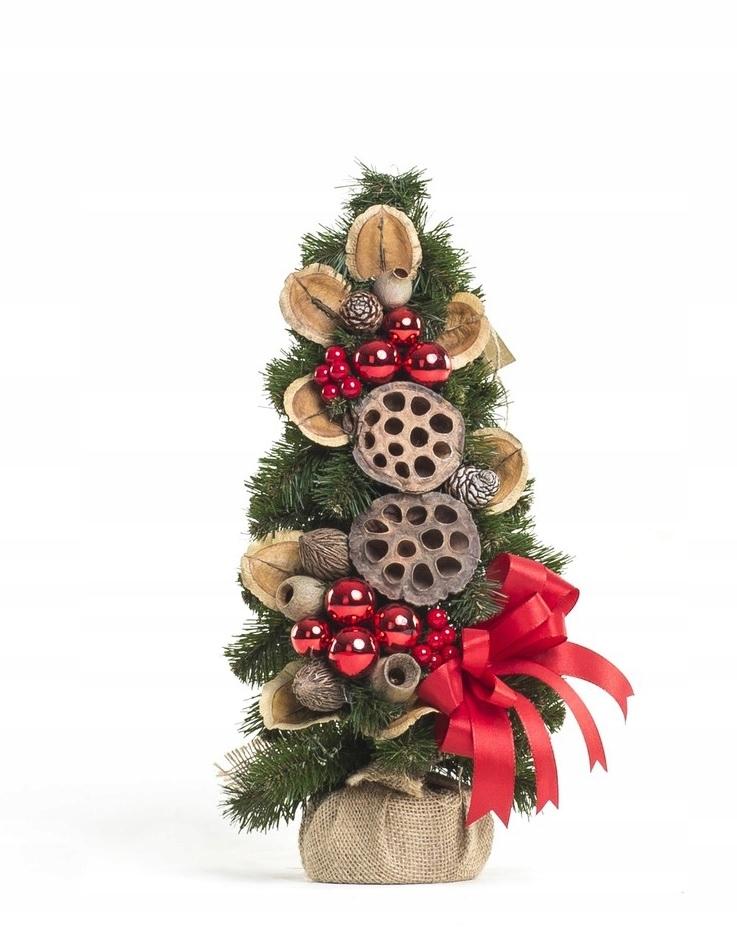 Zdobený kónický vianočný stromček Červená 40 cm