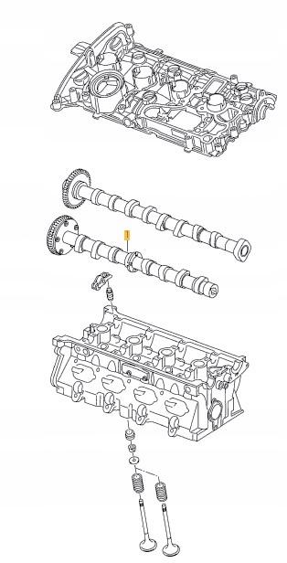 [РАСПРЕДВАЛ 1.8 / 2.0 TFSI TSI AUDI SEAT VW OEM]изображение 5