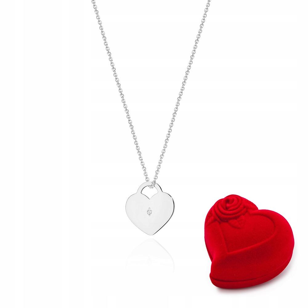 Celebrytka Náhrdelník Srdce Diamanty C-15