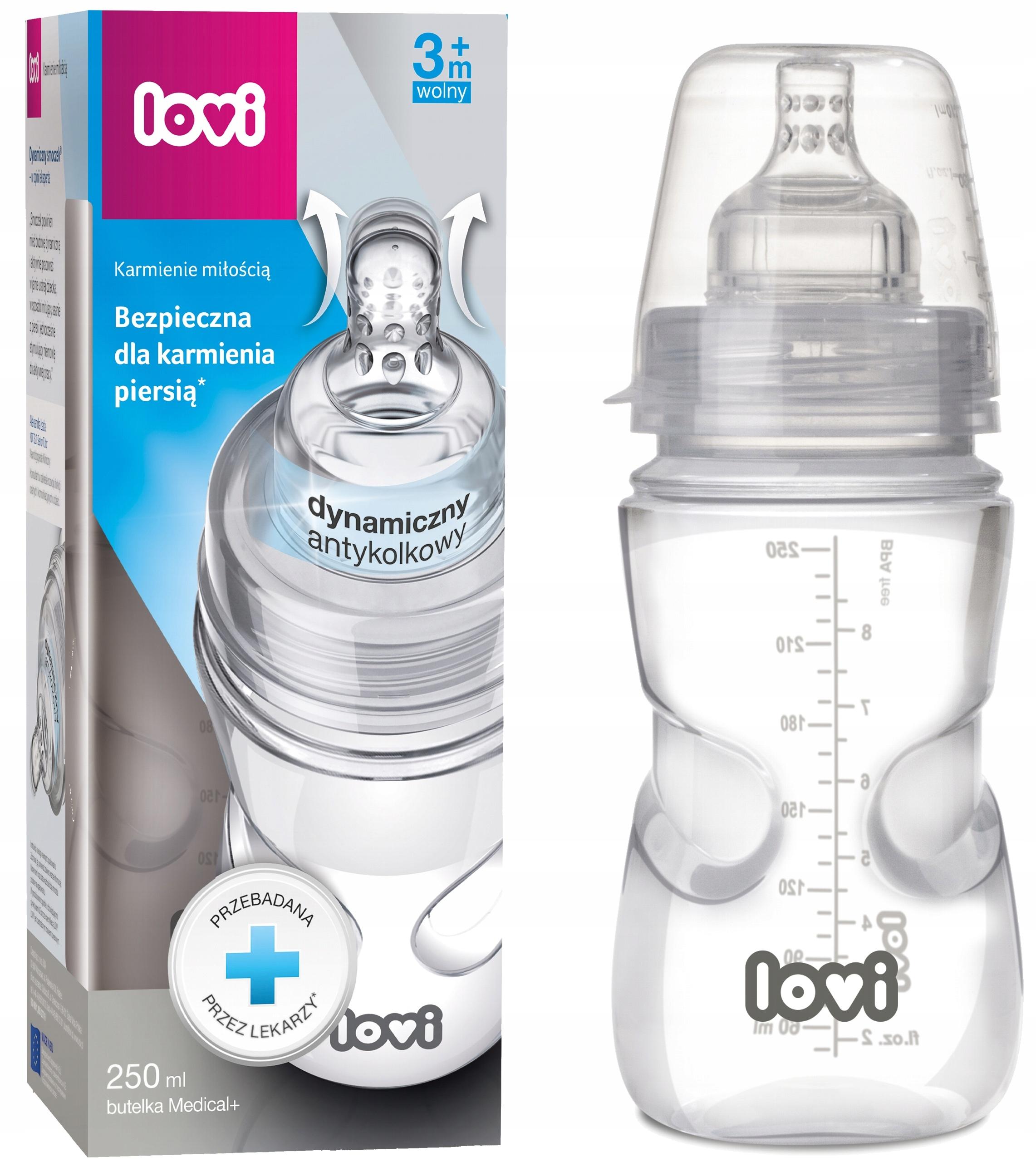Lova Medical Bottle + 250ml Supervent Pacifier 3m +