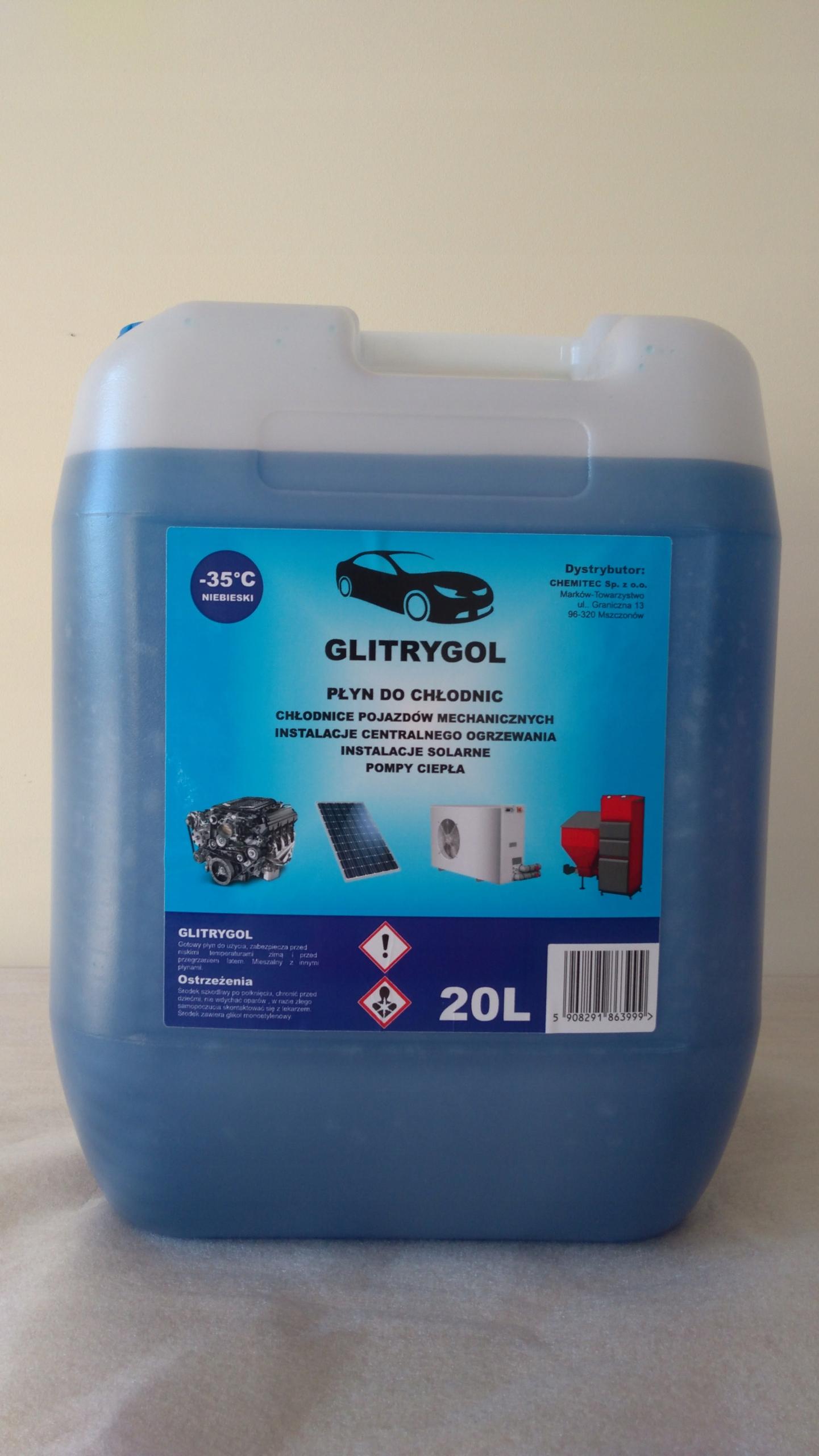 Жидкость для радиатора Glitrygol синий ,-35 C 20л.