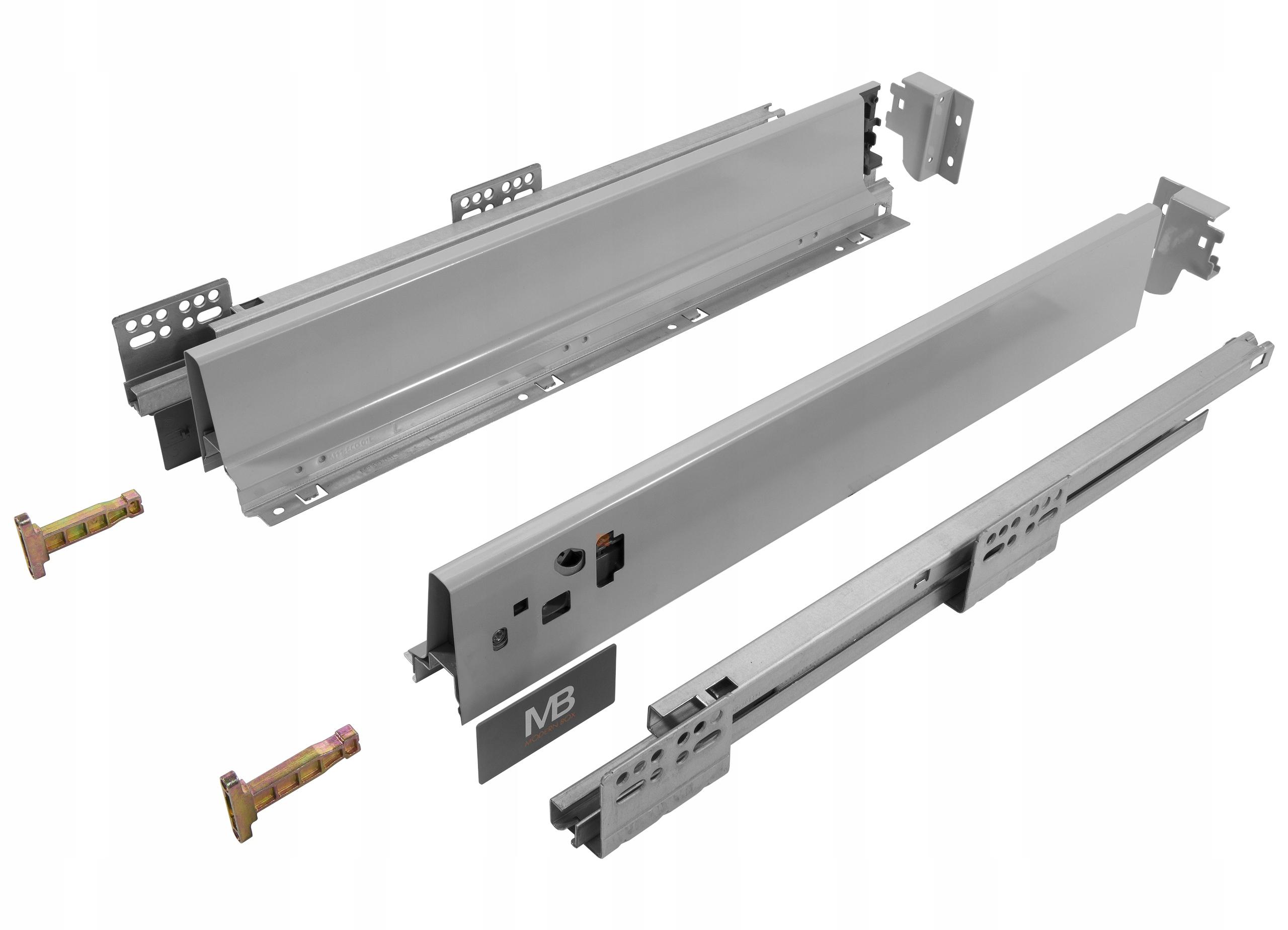 Box MODERNBOX L-500mm Nízke sivá GTV