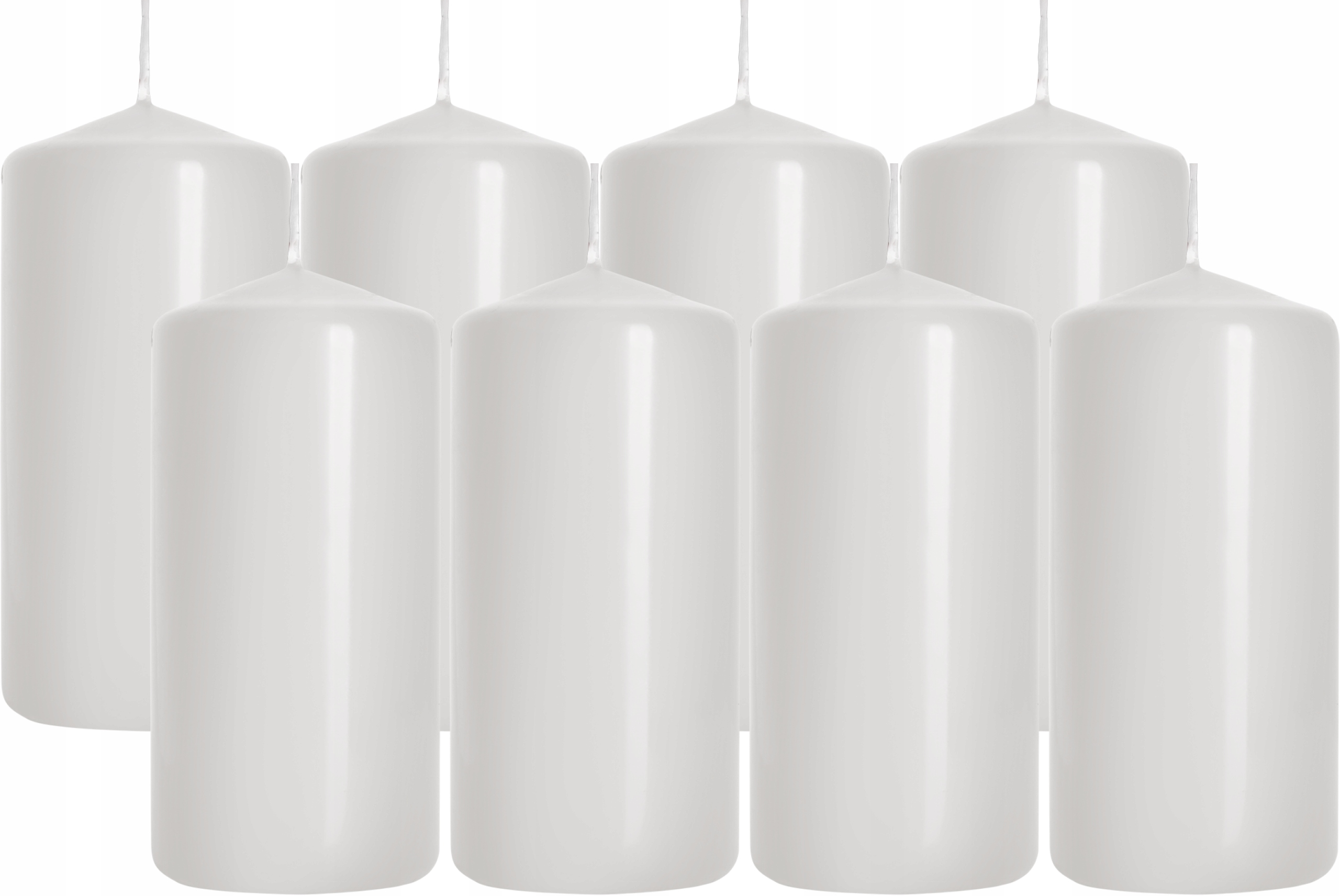 8x Bispol свечи ролики 20h / 10cm / белый