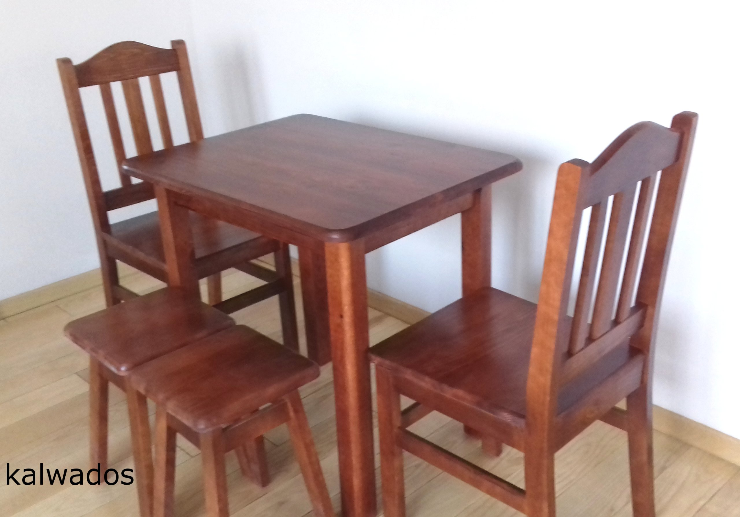 SOLIDNY stół 60x60 stolik kuchenny ława drewniana Wysokość mebla 75 cm