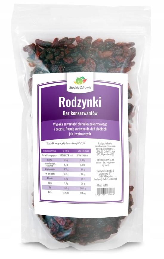 Item RAISINS sułtańskie SWEET 1 kg PRESERVATIVE-free