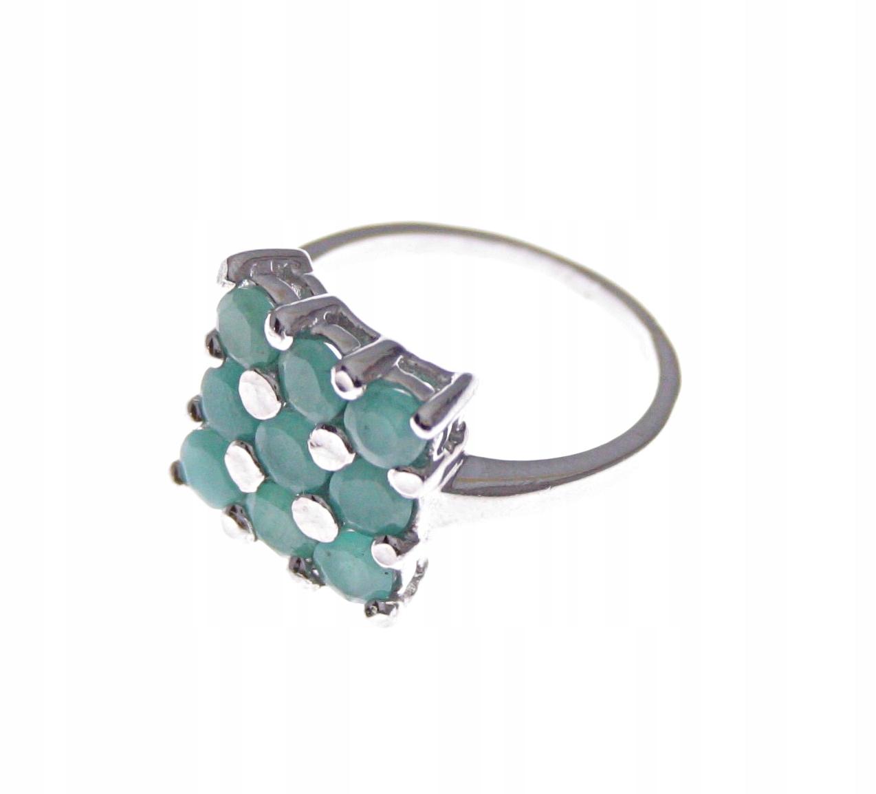 925 sterling silver ring-prírodné smaragdy