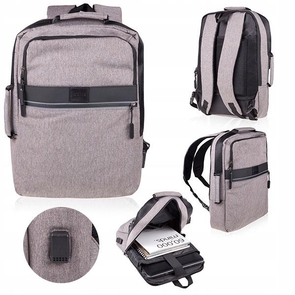 Plecak Antykradzieżowy Torba Laptop Usb Solier