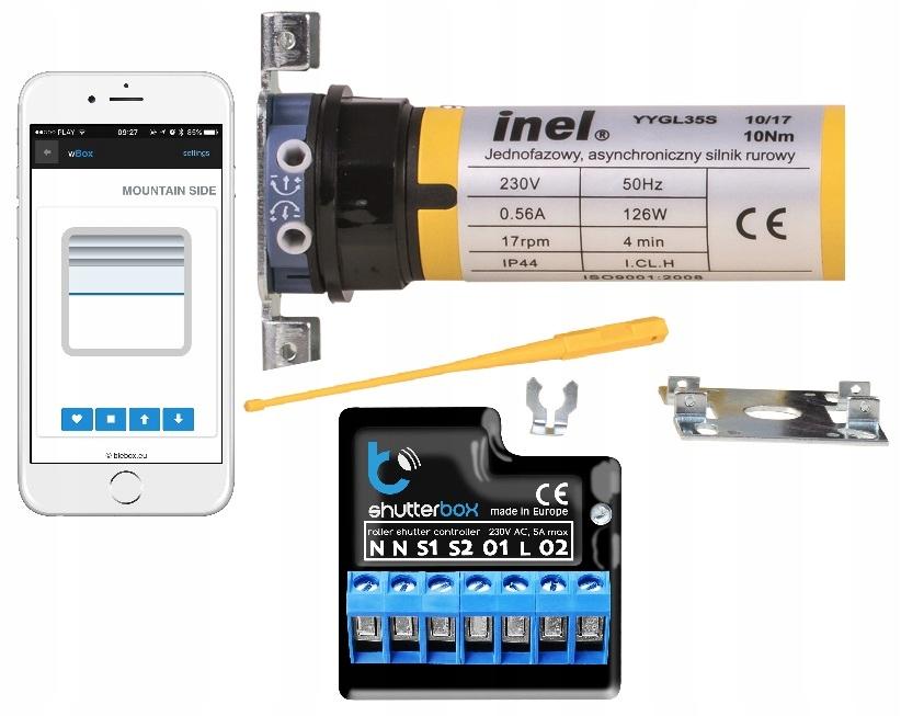 Silnik Rolet INEL N-10 + sterownik Wifi shutterBox
