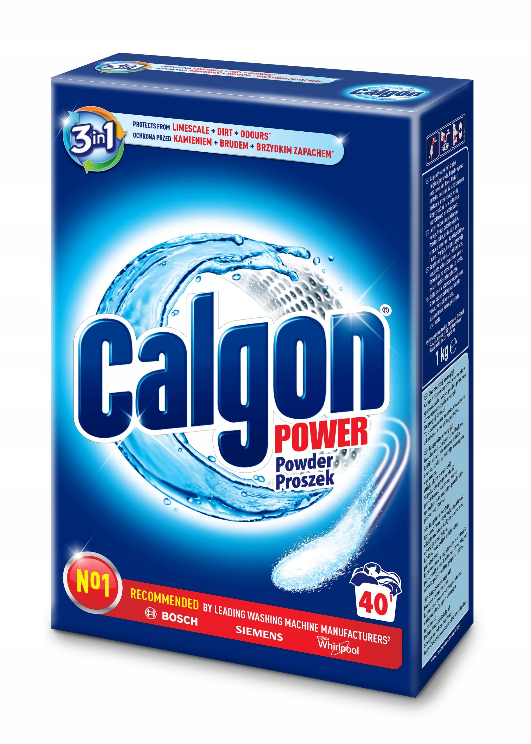 Calgon Порошок 3 в 1 для удаления накипи для Стиральной машины 1кг 40pr