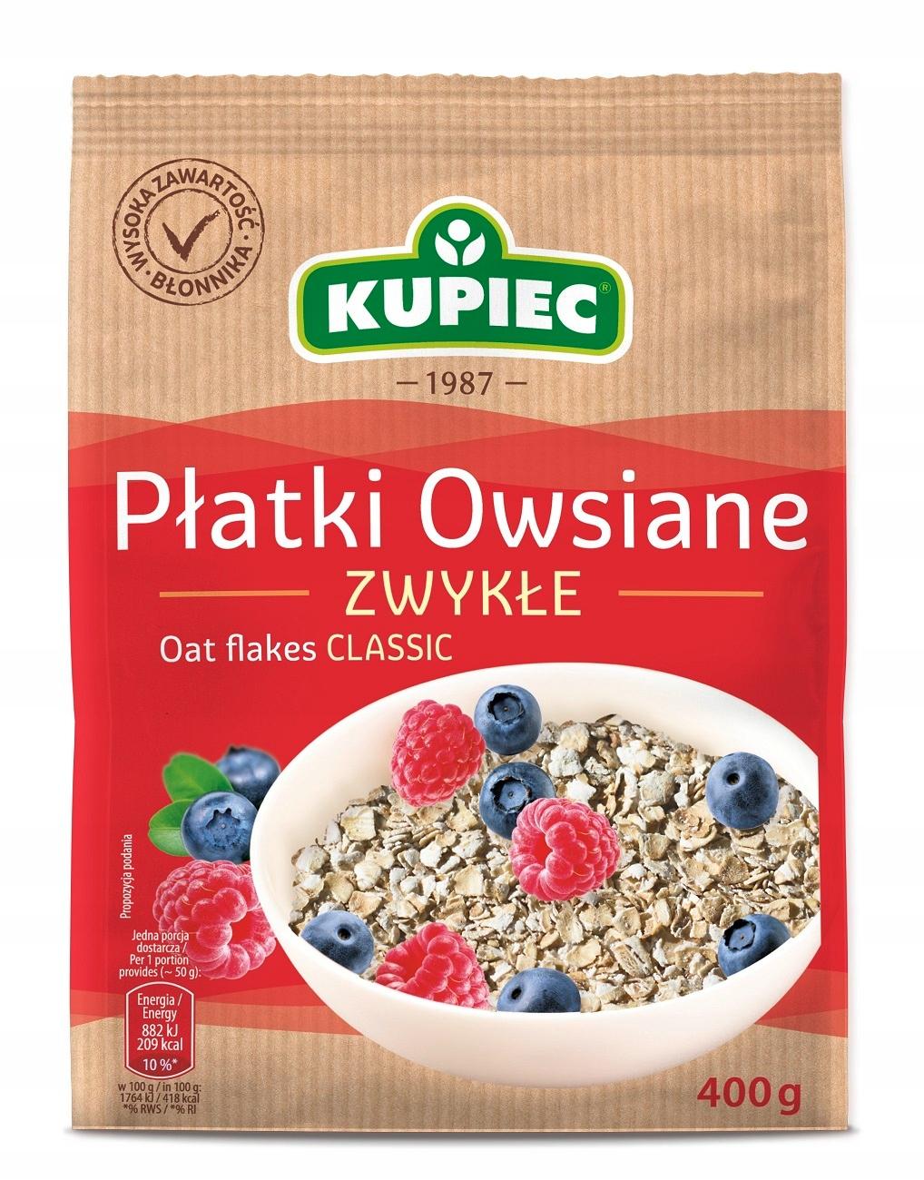 Купить PŁATKI OWSIANE ZWYKŁE Kupiec 400g x 6 sztuk на Otpravka - цены и фото - доставка из Польши и стран Европы в Украину.