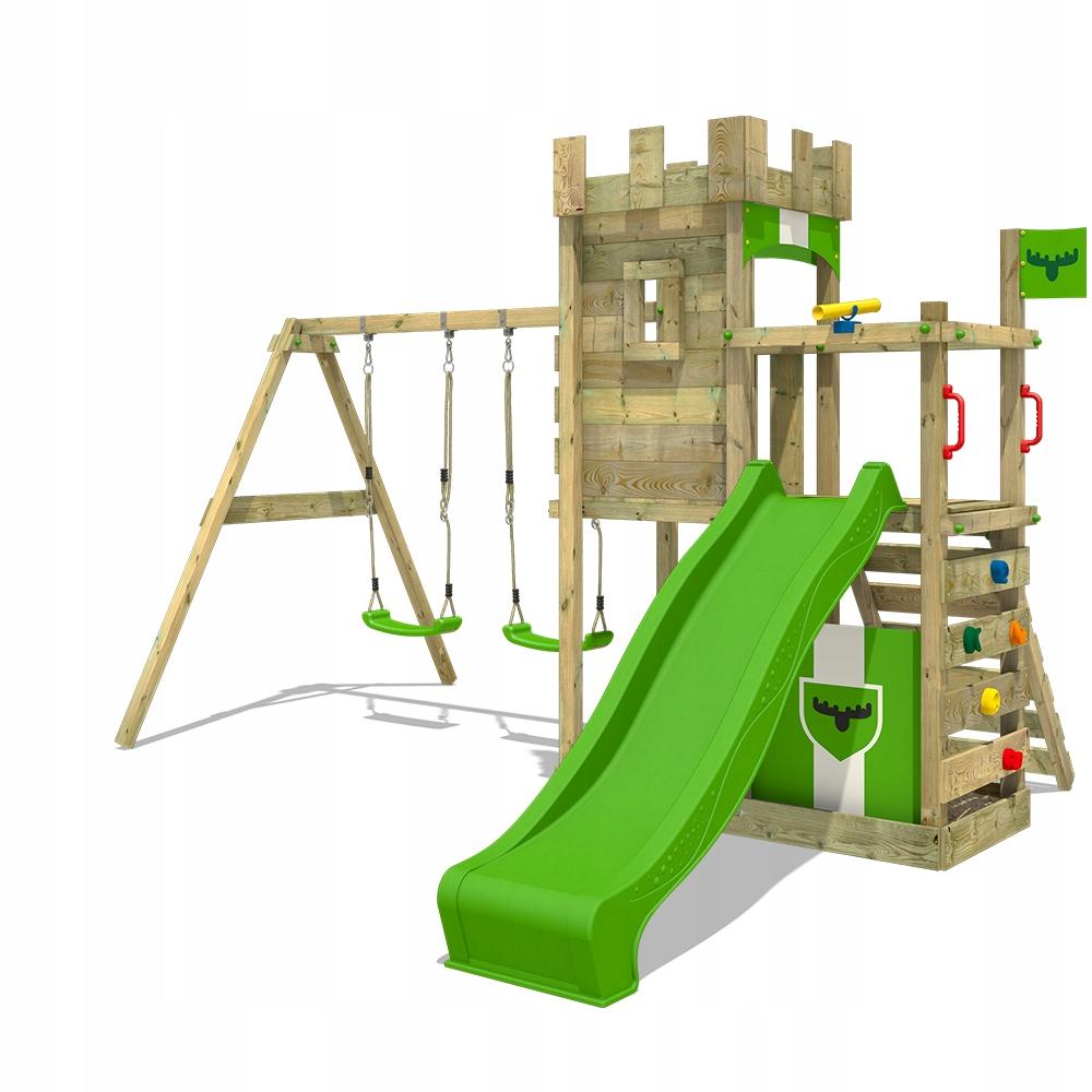 FATMOOSE BoldBaron drewniany plac zabaw z huśtawką