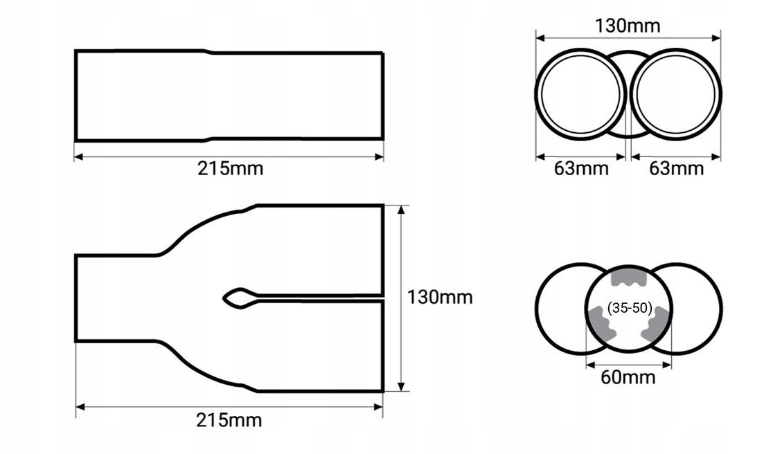 Наконечник глушителя, bmw x2 (бмв), наконечник выхлопной трубы глушителя накладка inox