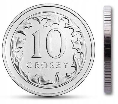 Чеканка 10 грошей 2004 г. с мешком