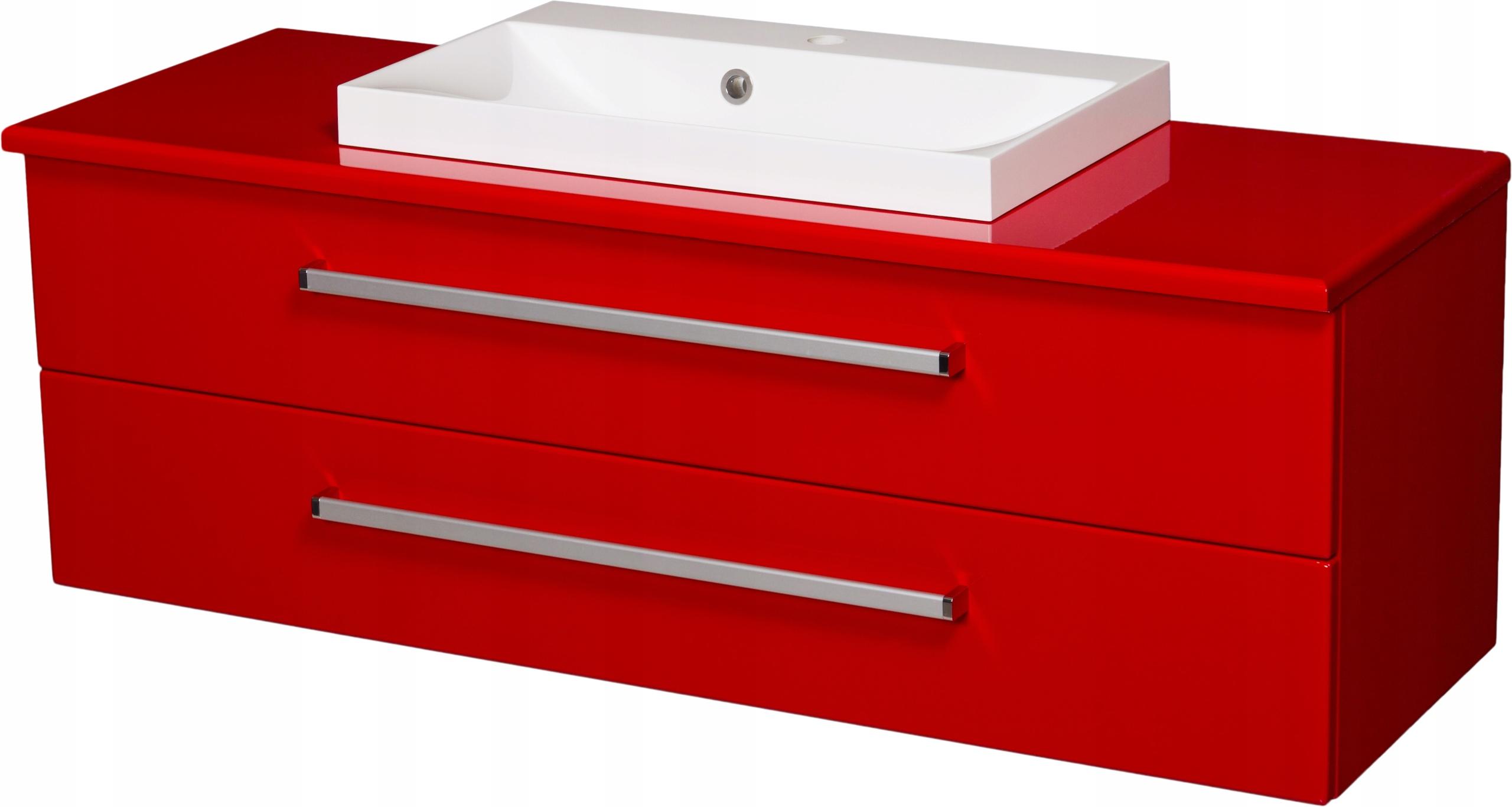FOKUS meble łazienk czerwona szafka + umywalk 120 - 2088 zł - Allegro.pl - Raty 0%, Darmowa dostawa ze Smart! - Miechów - Stan: nowy - ID oferty: 8125429140