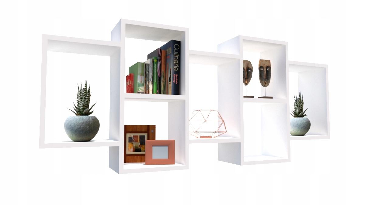 Стеллаж висящий instagram 7 полок для книг SEVEN