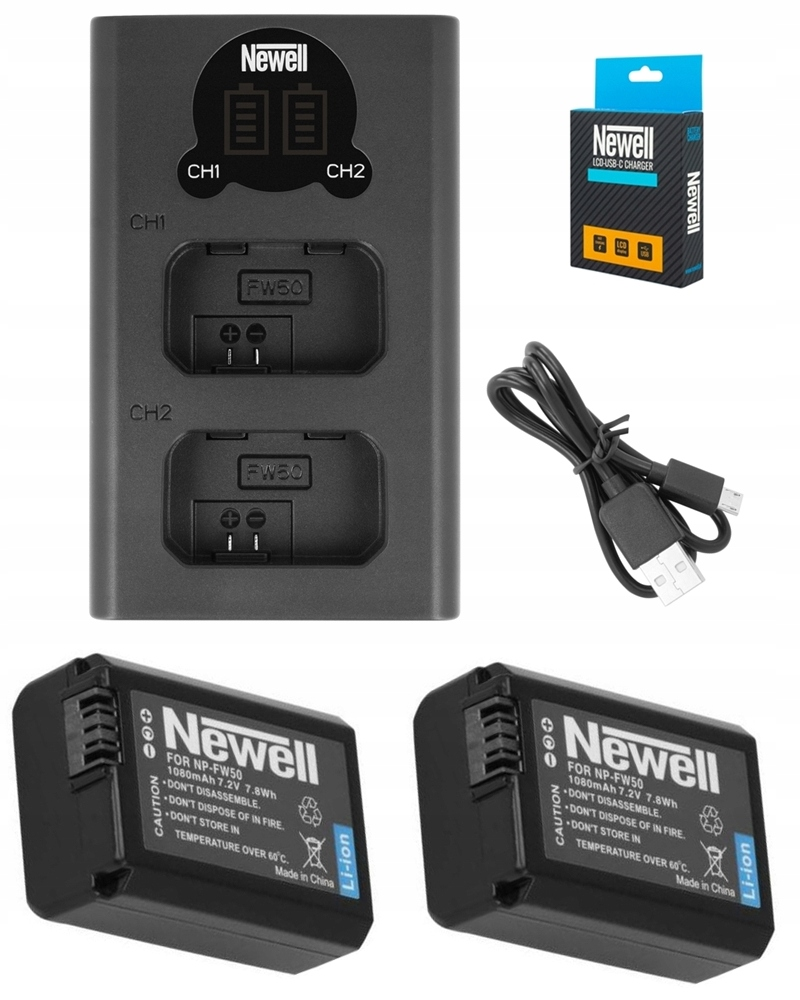 Item CHARGER LCD DUAL +2 BATTERY FOR SONY NP-FW50